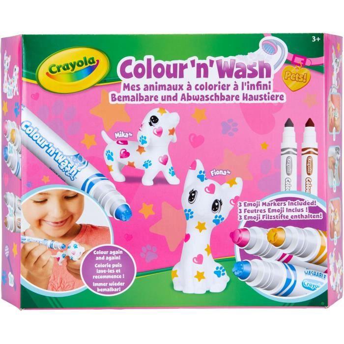 Crayola Color'N'Wash - Mes Animaux à Colorier Emoji - Loisirs créatifs