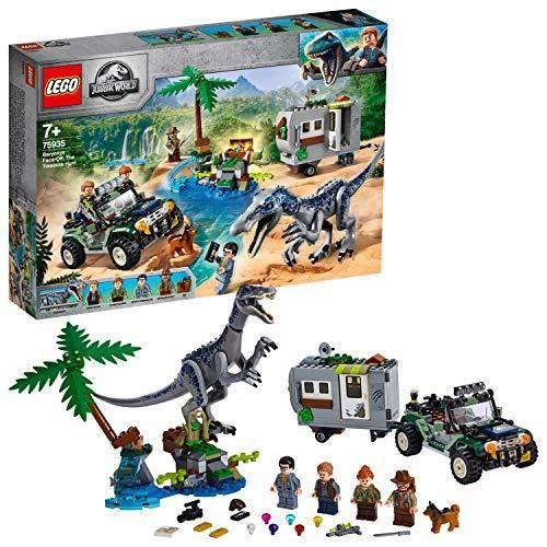 LEGO®-Jurassic WorldTM L'affrontement du baryonyx la chasse au trésor Jouets Dinosaure 7 Ans et Plus, 434 Pièces 75935 75935