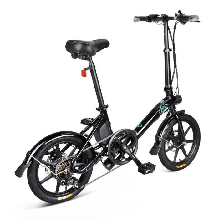 VÉLO ASSISTANCE ÉLECTRIQUE Vélo électrique - FIIDO D3 - 16 pouces Batterie 7.8Ah/36V 300W 25 km/h - VTT électrique Cyclomoteur -Noir