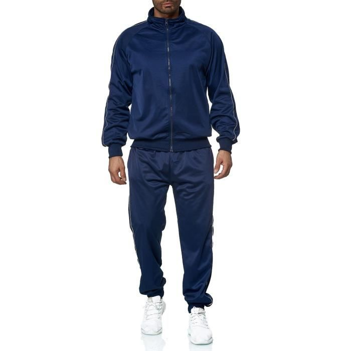 homme survêtement jogging pantalon d'entraînement sport jogger [Bleu, XXL]