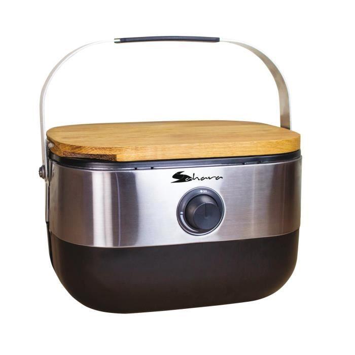 Mini barbecue à gaz portable - Inox