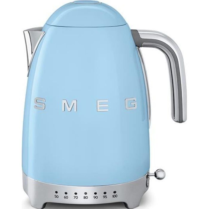 Smeg - bouilloire sans fil 1.7l 2400w bleu pastel - klf04pbeu
