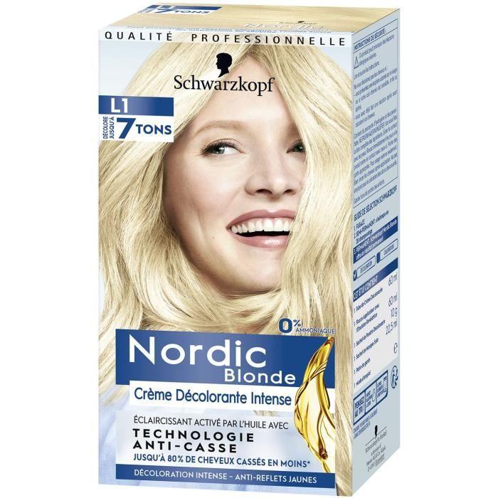 SCHWARZKOPF Coloration Permanente Nordic Crème Décolorante Intense L1 - Blonde