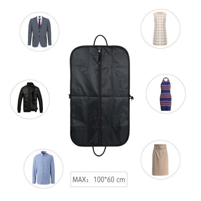 2 x Voyage Costume Housse Fermeture Éclair transaprent Résistant Vêtements Stockage 97 cm x 61 cm.