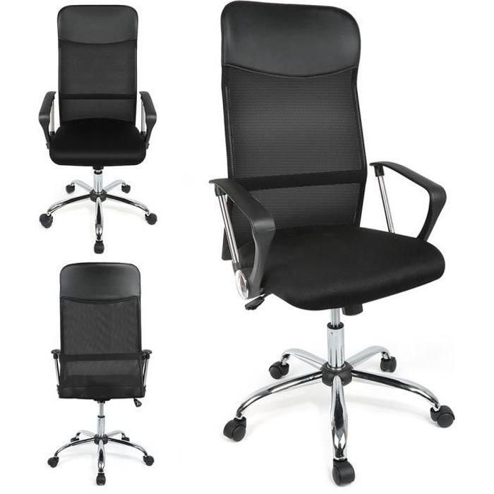 CHAISE DE BUREAU Chaise de bureau Noir Fauteuil 47*50*(122-130)cm @