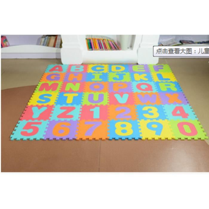 36pc unisexe eant puzzle jouet éducatif alphabet lettres chiffre tapis mou  /_