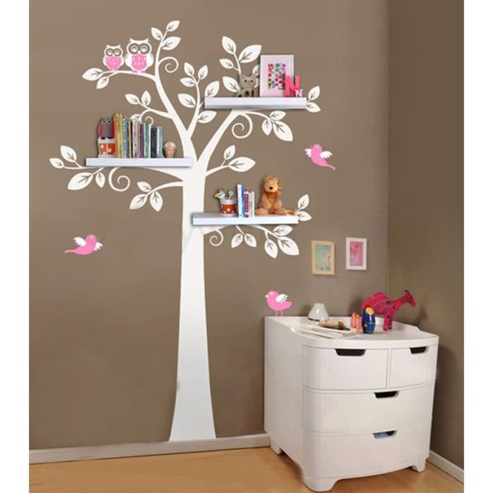 tag re murale arbre nursery stickers muraux tag res. Black Bedroom Furniture Sets. Home Design Ideas