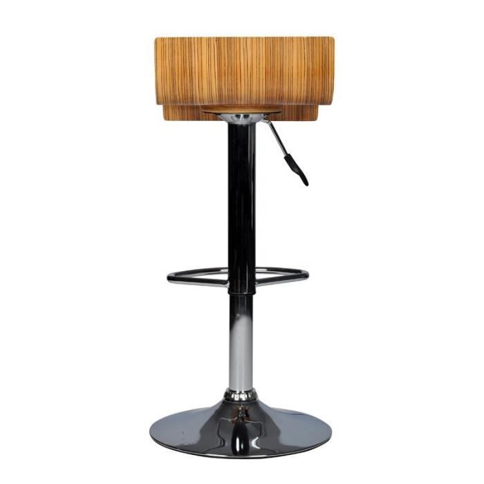 ensemble de 2 tabourets de bar bois design achat vente tabouret de bar cdiscount. Black Bedroom Furniture Sets. Home Design Ideas
