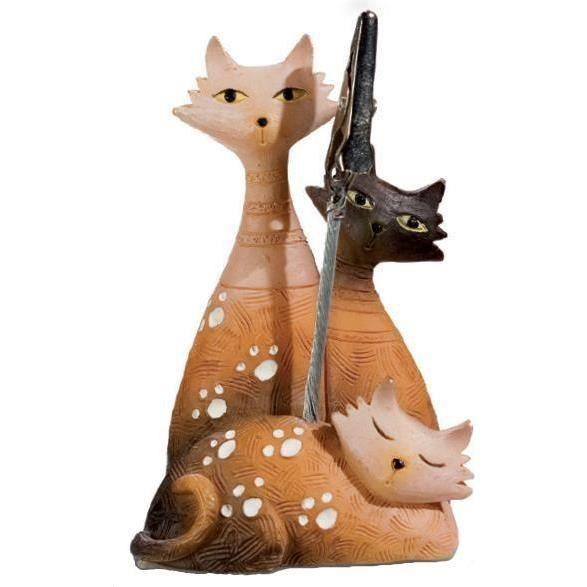 pince photo porte photo figurine chat achat vente statue statuette cdiscount. Black Bedroom Furniture Sets. Home Design Ideas