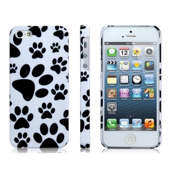 Coque rigide pattes de chien 101 Dalmatiens pour iPhone 5/5S ...