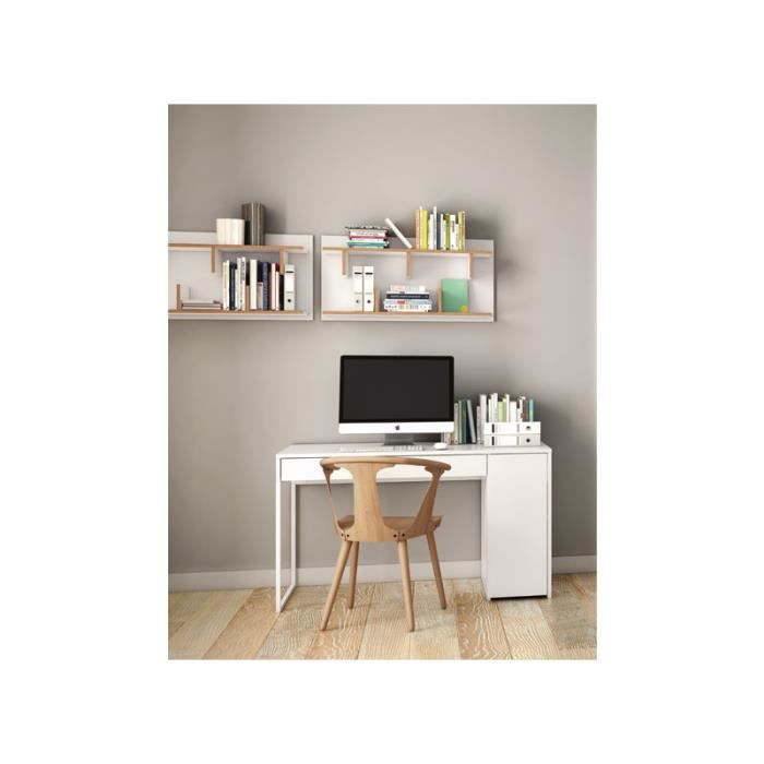 tag re murale scandinave bern blanc 90 cm achat vente. Black Bedroom Furniture Sets. Home Design Ideas