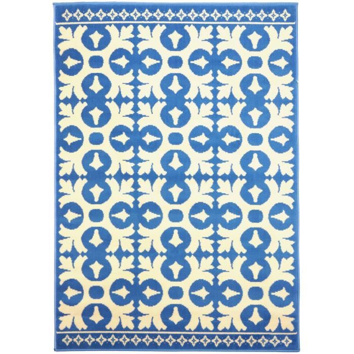 benuta tapis vintage swing bleu 140x200 cm achat vente tapis cdiscount. Black Bedroom Furniture Sets. Home Design Ideas