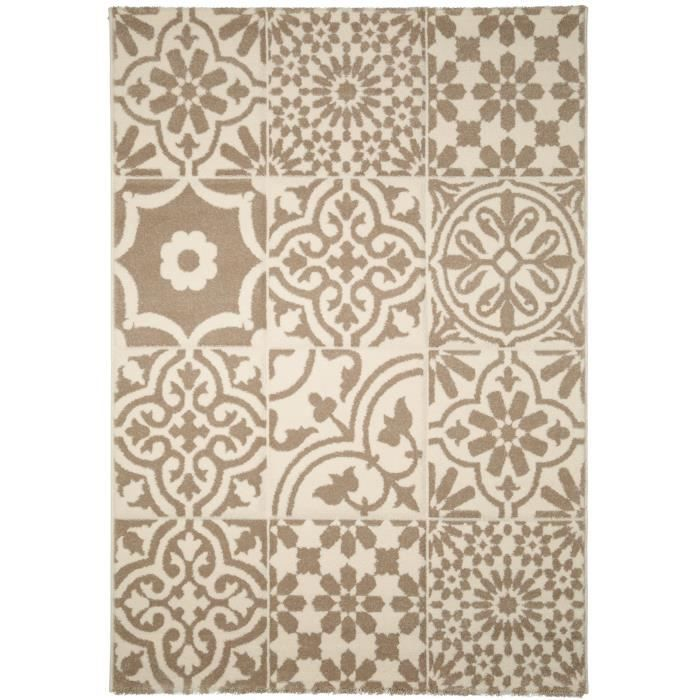 benuta tapis patchwork mosaico blanc 160x230 cm achat vente tapis cdiscount. Black Bedroom Furniture Sets. Home Design Ideas