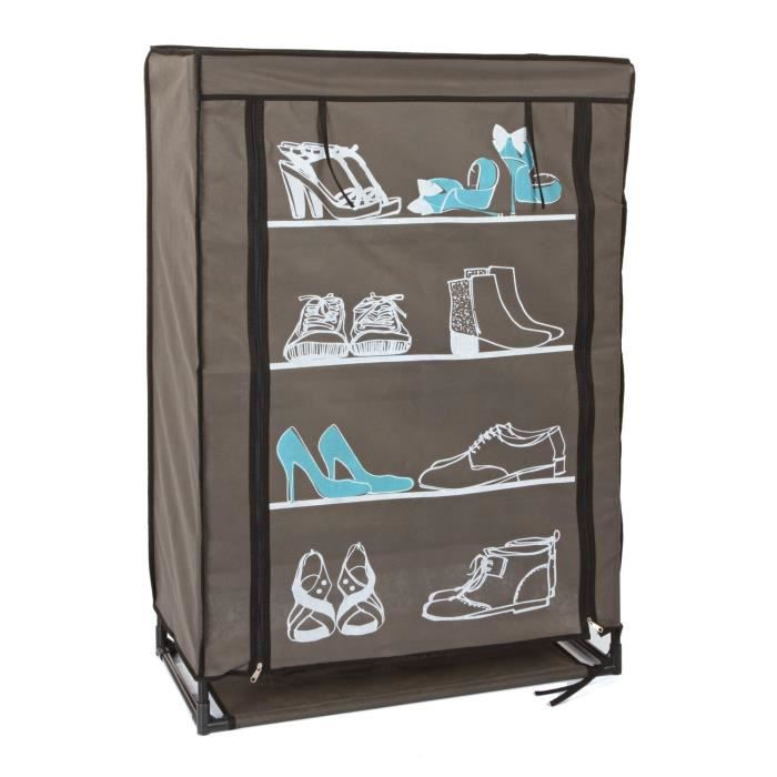 armoire a chaussure souple printee achat vente armoire. Black Bedroom Furniture Sets. Home Design Ideas