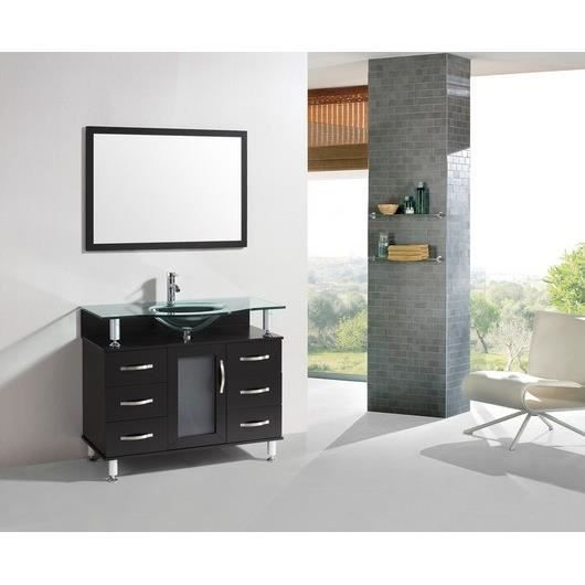 le weser meuble salle de bain 1 vasque achat vente salle de bain complete le weser. Black Bedroom Furniture Sets. Home Design Ideas