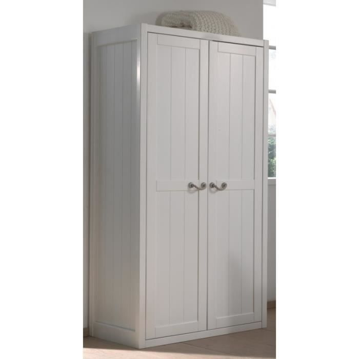 armoire 2 portes laqu blanc marin blanc achat vente armoire de chambre armoire 2 portes. Black Bedroom Furniture Sets. Home Design Ideas