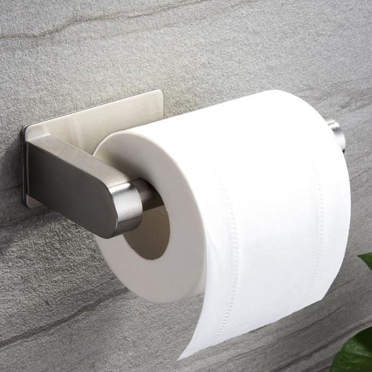 Boite Rangement Papier Wc zunto porte papier toilette auto-adhésif de sans forage