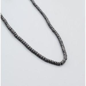SAUTOIR ET COLLIER Naturel spinelle noir Collier Perles en Rondelle F