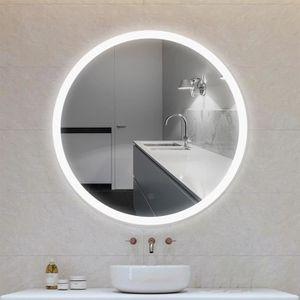 Miroir rond lumineux salle de bains