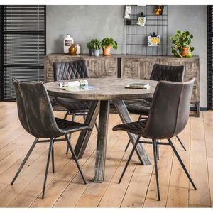 salle ronde manger Table ronde Table salle jR5A4L