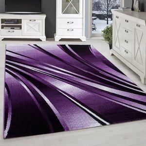 TAPIS Tapis moderne design salon court fleuri abstrait v