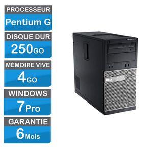 UNITÉ CENTRALE  DELL OPTIPLEX 3010 SFF Pentium G2020 3 Ghz Hdd 250