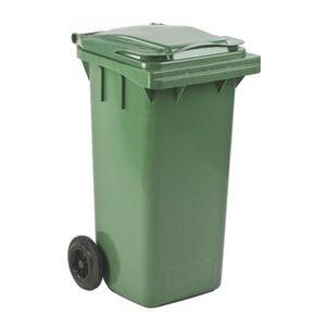 POUBELLE - CORBEILLE Poubelles à déchets 120L verte à 2 roues
