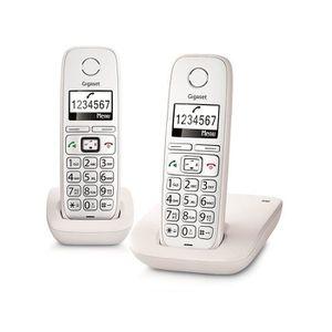 Téléphone fixe Gigaset E260 Duo, Téléphone DECT, Combiné sans fil