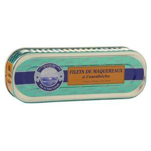PRODUIT DE SARDINE Filets de maquereau à l'escabèche, 169  gr