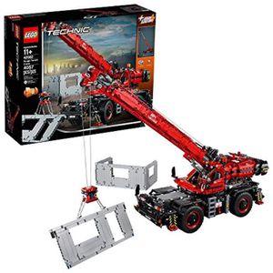 ASSEMBLAGE CONSTRUCTION Jeu D'Assemblage LEGO KDVD9 Technic Grue pour terr