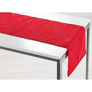 chemin de table rouge achat vente chemin de table. Black Bedroom Furniture Sets. Home Design Ideas
