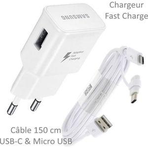CHARGEUR TÉLÉPHONE Pour Samsung Galaxy A40 : Chargeur Rapide USB Orig