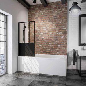 PORTE DE BAIGNOIRE Pare-baignoire pivotant, 80 x 140 cm,  1 volet pli