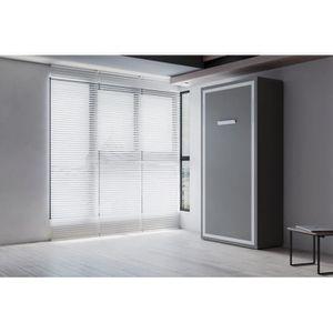 LIT ESCAMOTABLE JOY - Armoire lit escamotable verticale 1 place -9
