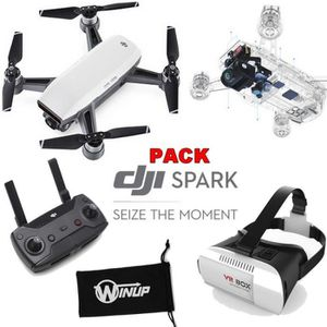 DRONE DJI Spark blanc Pack Radiocommande - Masque VR réa