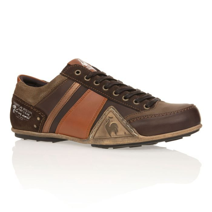le coq sportif baskets turin homme homme marron cognac achat vente le coq sportif baskets. Black Bedroom Furniture Sets. Home Design Ideas