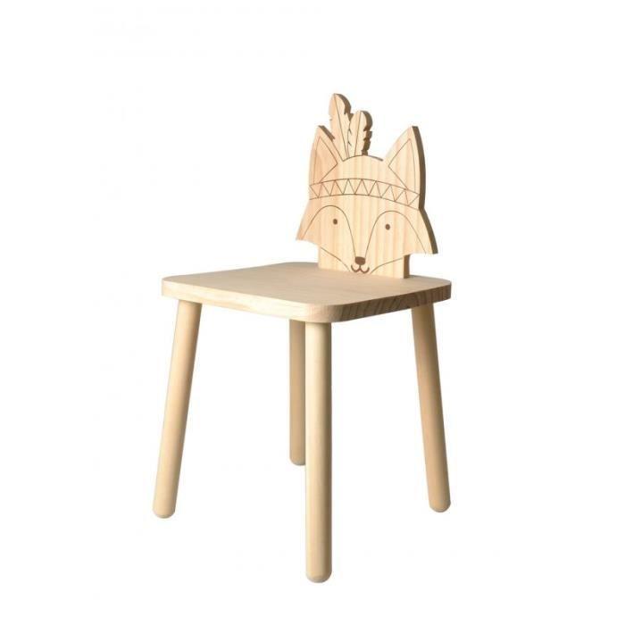 Chaise à décorer 'Artemio' Renard 29 x 29 cm