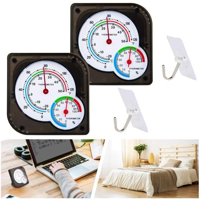 Mini thermomètre intérieur hygromètre température humidité pour Cuisine, Salle de Plantation, terrariums de Reptiles, Maison (Paquet