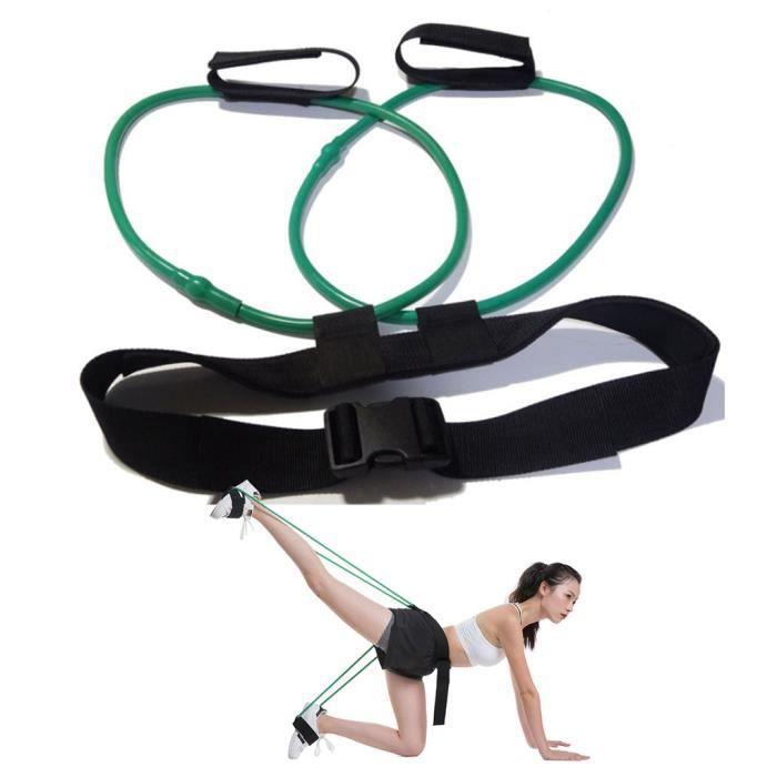 Bandes de résistance au butin Ajuster la ceinture élastique à la taille pour l'entraînement musculaire des jambes, Butt: 30 lb