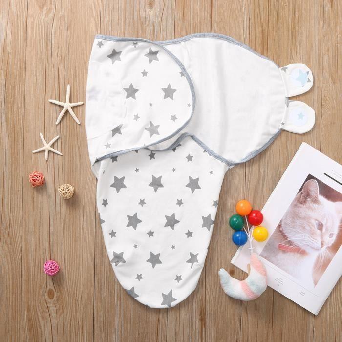 Soins bébéCouverture pour nouveau-né pour bébés Swaddle Wrap 0-3 mois Swaddle à rayures en coton bio HYM91011342WH_wat
