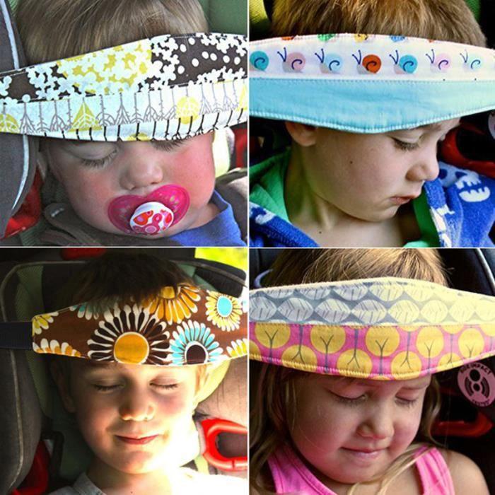 Accessoire Poussette Bébés Enfant Sécurité Sangle Bandeau Fixation Tête Sommeil Siège Auto Voiture - Couleurs Aléatoire
