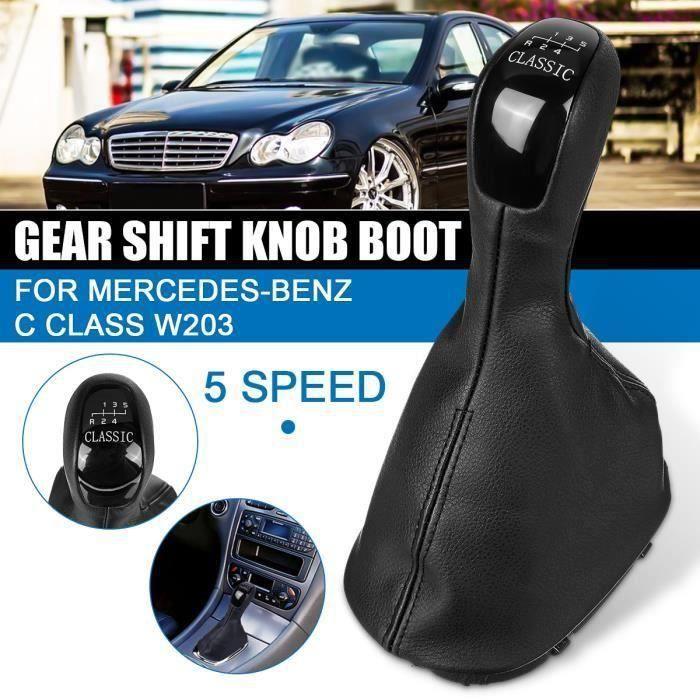 1x Pommeau de levier de vitesses Housse de Protection Pour Mercedes Benz C Class W203 5-Vitesses Wir3