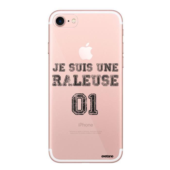 Coque iPhone 7 iPhone 8 rigide transparente Râleuse Ecriture Tendance et Design Evetane