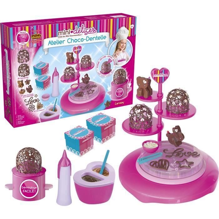 LANSAY Mini délices Jeu de cuisine Mon super atelier Choco Dentelle - Fille - À partir de 6 ans