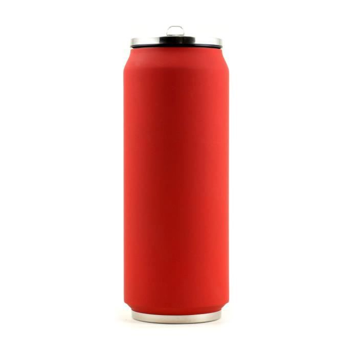 YOKO DESIGN Canette isotherme 500 ml - Rouge mat