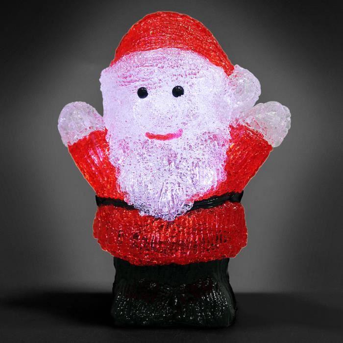 Monzana - Figurine Lumineuse LED en Acrylique - décoration de Noël - Père noël Lumineux - Illumination de noël