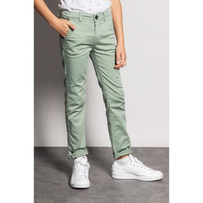 DEELUXE Pantalon chino slim LAWSON Green Tea