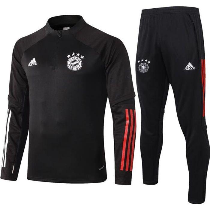 Survêtement Foot Homme Bayern Munich,Maillot Foot Enfants Garçon Homme 2021 Survêtement Foot Maillot de Foot,Haut et Pantalon