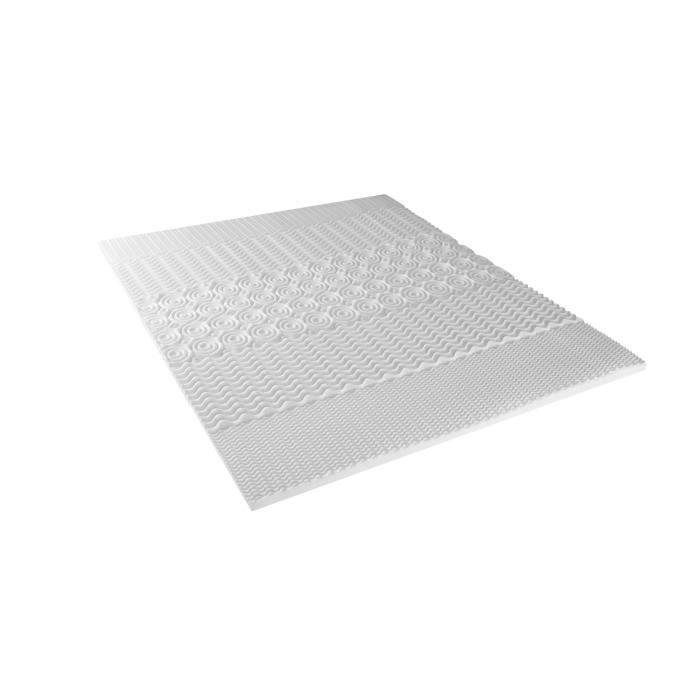 Neorev Topper Surmatelas à Mémoire de Forme Blanc 160 x 200 cm