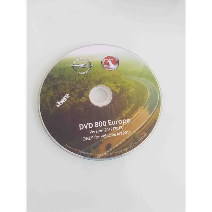 DVD GPS Europe Opel 2017-2018 CD500 DVD800 - MY11